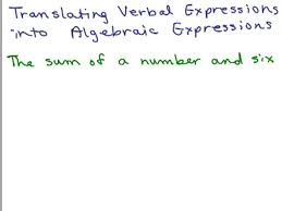 translating words into algebraic expressions help in middle school math pre algebra free math help s by mathvids com