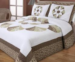 cotton classical embroidery rome pattern quilting bed cover air conditioning bedspread bedding set big flower