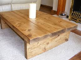 rustic wooden box coffee table