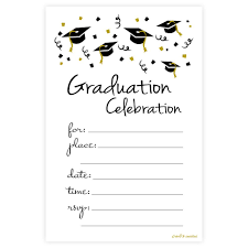 Graduation Celebration Fill In Invitations M H Invites