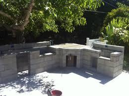 cinder block outdoor fireplace plans designs