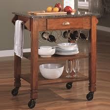Kitchen Sofa Furniture Coaster 910009 Brown Wood Kitchen Cart Steal A Sofa Furniture