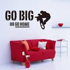office wall stickers. Store Removable Go Big Or Home Proverb Room Office Wall Stickers