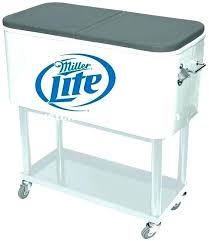 stainless steel cooler carts stainless steel patio cooler insulated rolling cooler cart rolling patio cooler cart