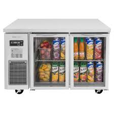 turbo air jur 48 g n j series 48 glass door undercounter refrigerator with side mounted compressor