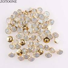 <b>ZOTOONE</b> 50PCS <b>Beautiful</b> Rhinestone Metal Button for Coat ...