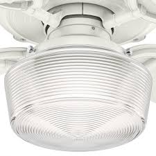 hunter 54176 brunswick 1 led light 60 inch ceiling fans in fresh white with 4 fresh