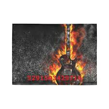 interestprint sweet home modern collection custom the burning guitar area rug 7 x5 indoor soft carpet
