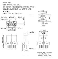hdi 19p kit hdmi male solder connector hood kit micro usb to hdmi wiring diagram hdi 19p kit drawing_2 hdmi male solder connector hood kit Micro Hdmi Wiring Diagram