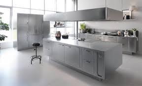 Modern Stainless Steel Kitchen Island
