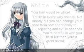 Beautiful Decoration Anime Hair Color Meaning White Fun Pinterest