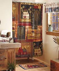 cheap country home decor … Primitive Country Fabric Shower Curtain ...
