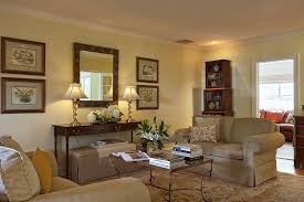 new york console tables behind sofa