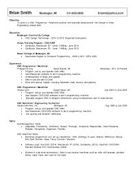 Resume For Cnc Machinist - Kleo.beachfix.co