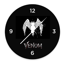 Venom logo Clock by Ink Fish - Ink Fish