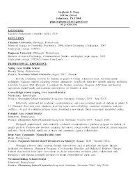 Sample Mental Health Resume Sample Mental Health Counselor Resume