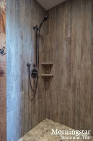 tile shower stalls. Shower Stall With Wood-like Tile That Has A Rustic (yet Modern) Feel ☆ Southern Midcoast Maine Farmhouse: Morse \u0026 Doak Builders, Kennebec Company Cabinetry Stalls F