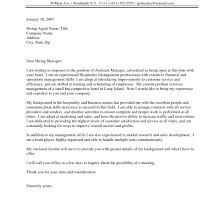 Leading Hotel Hospitality Cover Letter Examples Resources At