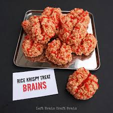 totally delicious totally creepy rice cri treat brainsare perfect for your or mad scientist