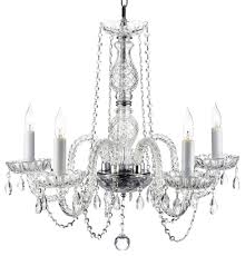 authentic all crystal chandelier 5 light