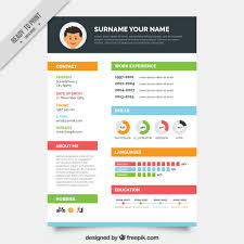 editable cv format psd file colors resume template