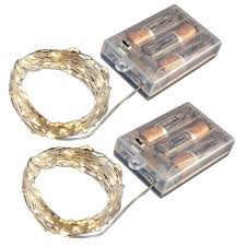 Battery Operated Led Lights With Timer Lumabase Battery Operated Led Waterproof Mini String Lights With Timer 100 Total Lights 2 Pack