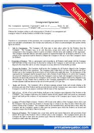 Consignment Agreement Template Word Free Printable Consignment Agreement Sample Printable Legal Forms 18