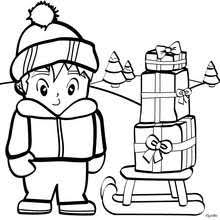 Small Picture Big christmas present coloring pages Hellokidscom