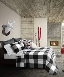 black buffalo plaid comforter set
