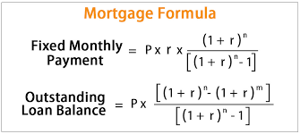 Calculate A Mortgage Loan Mortgage Formula Calculate Monthly Repayments Oustanding