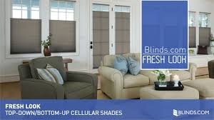 top down shades. Top-Down/Bottom-Up Cell Shades - Fresh Look \u0026raquo; Cellular Bali Blinds.com Levolor Top Down Bottom Up Video Gallery 3