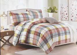 details about luxurious check design duvet cover bedding set pillowcases white green brown