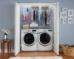 Extraordinary Small Laundry Room Ideas: Extraordinary Small Laundry Room  Ideas With White Wooden Door And Washing Maching And Flower Vase And Wooden  Floors ...