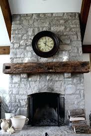 install wood mantel shelf stone fireplace stacked fireplaces