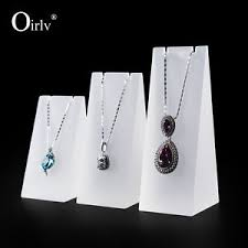 Acrylic Necklace Display Stands Oirlv Frosted Acrylic Block Necklace Display Stand Matte Acrylic 12