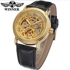 popular winner gold self winding watches men buy cheap winner gold winner gold self winding watches men