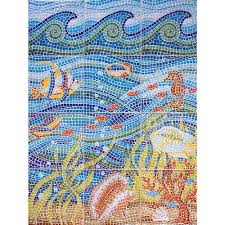 under the sea 24 in x 32 in ceramic mural wall tile 5 3 sq ft case