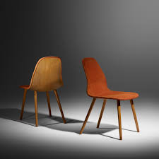 organic furniture design. 15: Charles Eames And Eero Saarinen / Rare Pair Of Chairs From The Organic Design Furniture