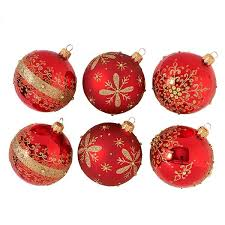 Fortnum's Red Christmas Baubles, ...