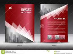 Red Design Company Business Brochure Flyer Template Red Cover Design Stock