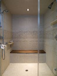 good looking teak shower bench decorating ideas for contemporary vancouver and glass subway tiles bathroom