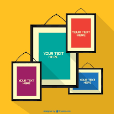 Small Picture Frames on wall design Vector Free Download