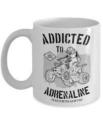 adrenaline junkie addict gift fear is never an option cup fun atv unique coffee mug gifts