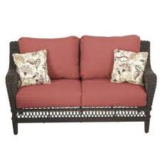 Awesome Wicker Loveseat Patio Furniture Outdoor Loveseats Outdoor