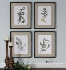 Wall Art Sets For Living Room Uttermost Butterfly Plants Framed Art S 4 17wx 21 H X 1 D 51079