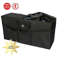 J L Childress Stroller Travel Bag For Single And Double Strollers Durable And Protective Water Resistant And Easy Clean Carry Handles And