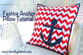 Pillow Sewing Patterns Custom Craftaholics Anonymous Fast And Easy Anchor Pillow Tutorial
