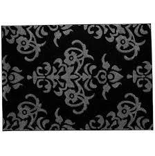amazing black and white damask rug from gray damask area rug