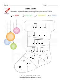Music Worksheets – Holidays – Note Values - SproutBeat | Music ...