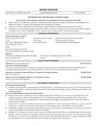 ... entry level sql developer resume sample ...